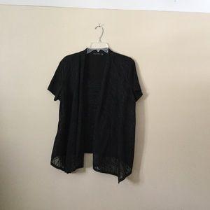Black shirt with black design
